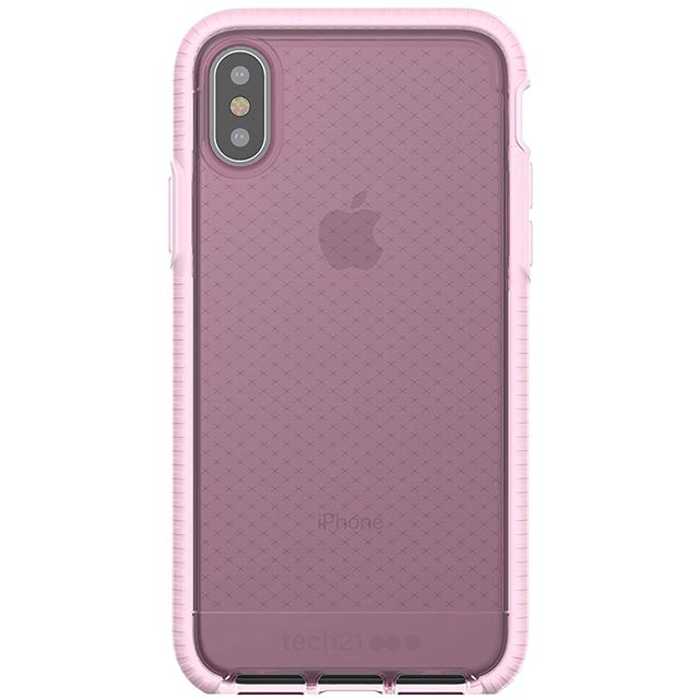 Tech21 Evo Check Case for Apple iPhone X - Rose Tint