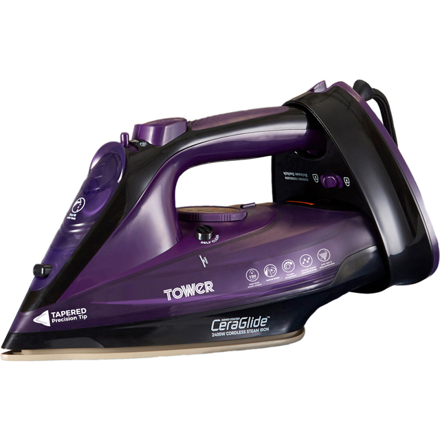Tower T22008 2400 Watt Cordless Iron -Purple