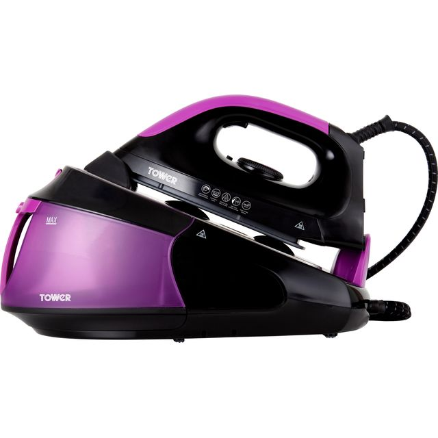 Tower T22015PURBF Pressurised Steam Generator Iron - Black / Purple
