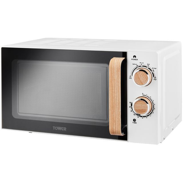 Tower Scandi T24027SBW 20 Litre Microwave - White