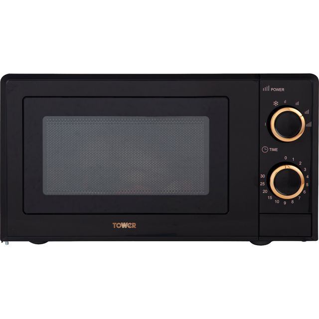 Tower T24029RG 17 Litre Microwave - Black / Rose Gold