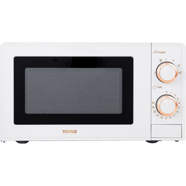 Tower T24029WRG 17 Litre Microwave - White / Rose Gold - T24029WRG_WRG - 1