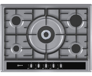 Product image for Neff T26S56N0 70cm Gas Hob - Stainless Steel