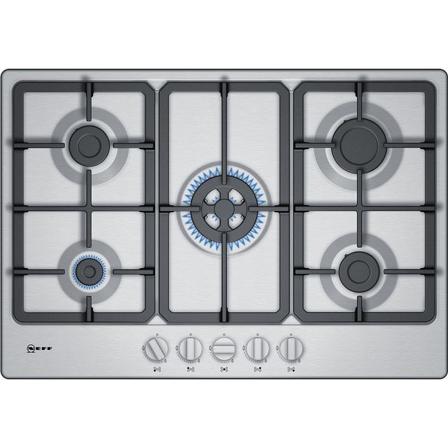 NEFF N50 T27BB59N0 Built In Gas Hob - Stainless Steel - T27BB59N0_SS - 1