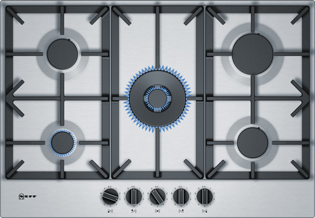 NEFF T27DS59N0 Integrated Gas Hob in Stainless Steel