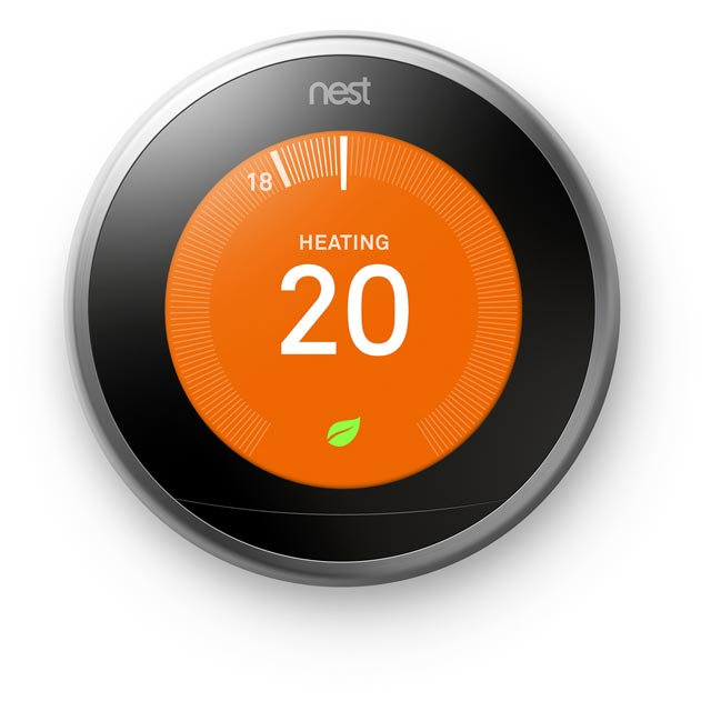 Nest Learning Smart Thermostat 3rd Gen - Requires Professional Install - Silver