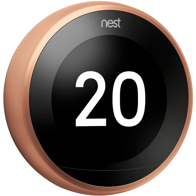 Nest Learning Smart Thermostat 3rd Gen T3018GB Smart Thermostat in Copper