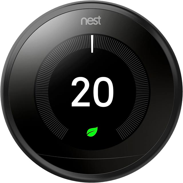 Nest Learning Smart Thermostat 3rd Gen T3018GB Smart Thermostat in Black
