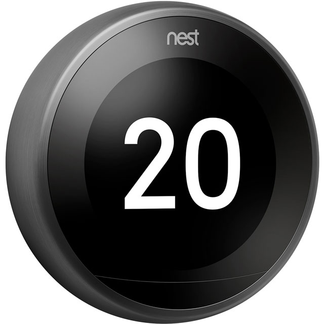 Nest Learning Smart Thermostat 3rd Gen T3019GB Smart Thermostat in Black