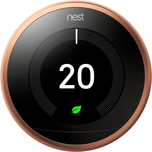 Nest Learning Smart Thermostat 3rd Gen T3019GB Smart Thermostat in Copper