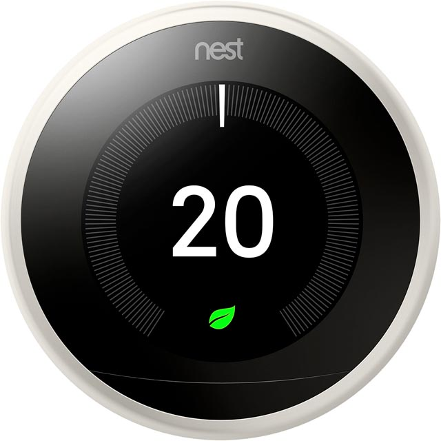 Nest Learning Smart Thermostat 3rd Gen T3020GB Smart Thermostat in White