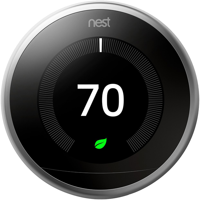 Nest Learning Smart Thermostat 3rd Gen - Requires Professional Install - Black - T3029EX - 1