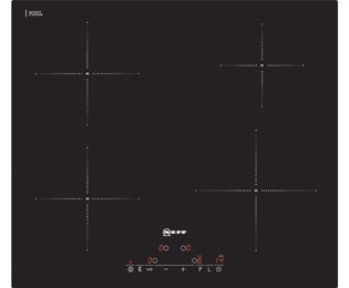 Product image for Neff T41D40X2 59cm Induction Hob - Black