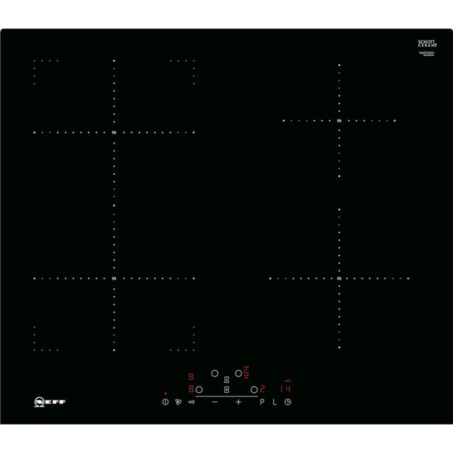 NEFF N70 T46FD53X2 59cm Induction Hob - Black - T46FD53X2_BK - 1