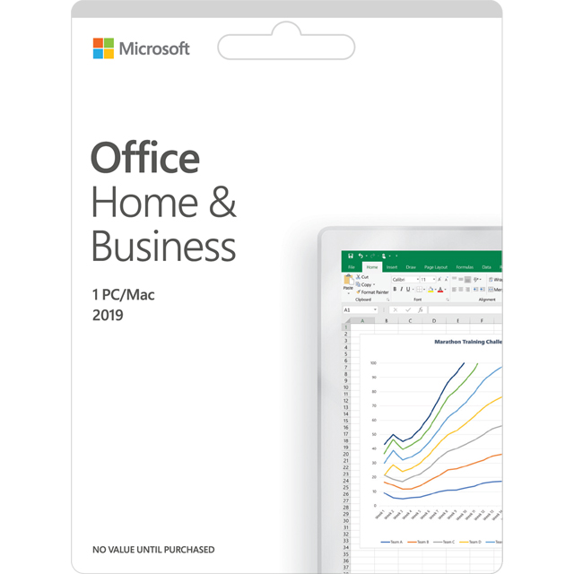 Microsoft Office Home and Business 2019 Digital Download for 1 User - One Time Purchase - T5D-03183 - 1