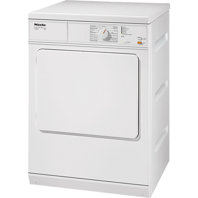 Miele T8302 6Kg Vented Tumble Dryer - White - C Rated - T8302_WH - 1