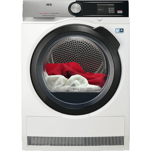 AEG AbsoluteCare Technology 8Kg Heat Pump Tumble Dryer - White - A+++ Rated