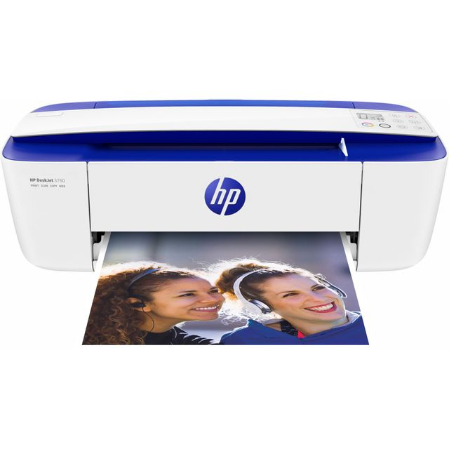 HP DeskJet 3760 Inkjet Printer - Blue / White - T8X19B#BEV - 1