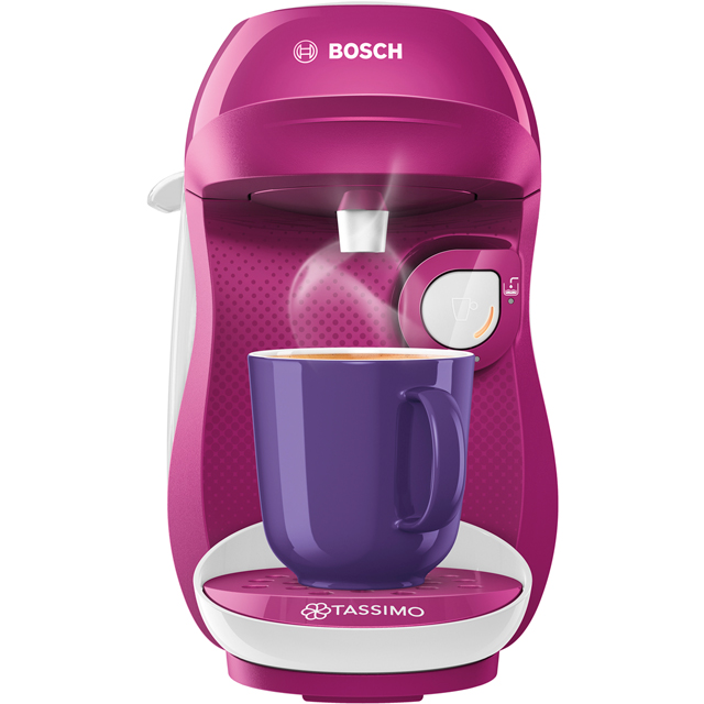 Tassimo by Bosch Happy TAS1001GB Pod Coffee Machine - Purple / White - TAS1001GB_PUWH - 1