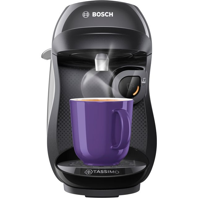 Tassimo by Bosch Happy TAS1002GB Pod Coffee Machine - Black - TAS1002GB_BK - 1