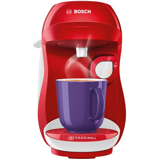 Tassimo by Bosch Happy TAS1006GB Pod Coffee Machine - Red / White - TAS1006GB_RDWH - 1