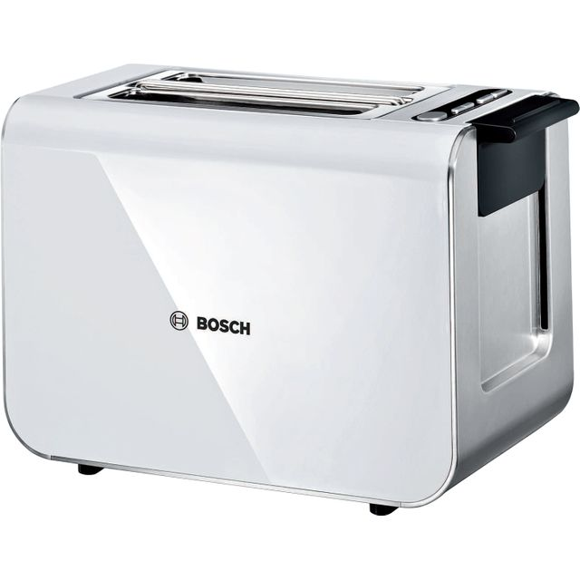 Bosch Styline TAT8611GB 2 Slice Toaster - White / Stainless Steel