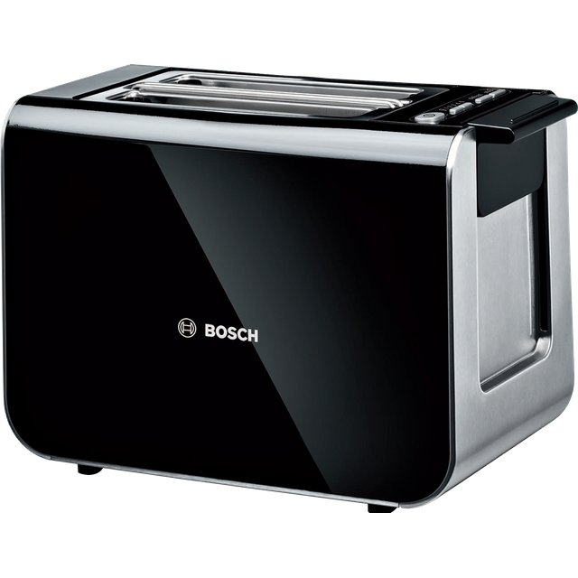 Bosch Styline TAT8613GB 2 Slice Toaster - Black / Stainless Steel