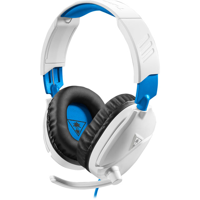 Turtle Beach Recon 70P Gaming Headset - White / Blue - TBS-3455-02 - 1
