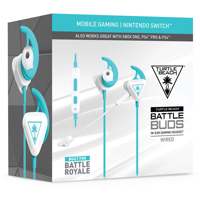 Turtle Beach Battle Buds Gaming Headset - White - TBS-4003-02 - 1