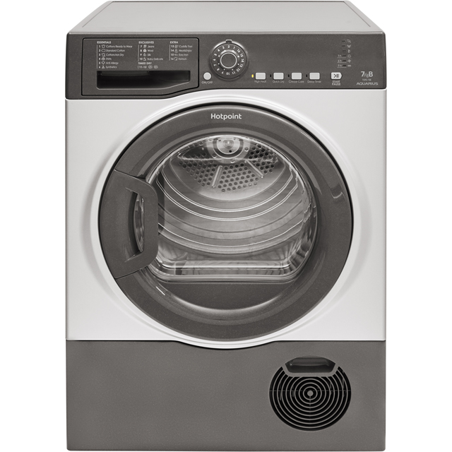 Hotpoint Aquarius TCFS73BGG 7Kg Condenser Tumble Dryer - Graphite - B Rated - TCFS73BGG_GH - 1