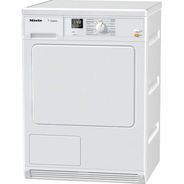 Miele TDA140C 7Kg Condenser Tumble Dryer - White - B Rated - TDA140C_WH - 1