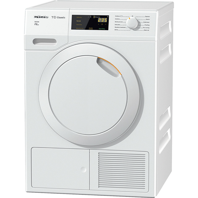 Miele T1 Active TDB230WP Free Standing Condenser Tumble Dryer in White