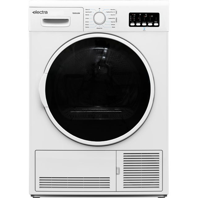 Electra TDC9112W 9Kg Condenser Tumble Dryer - White - B Rated - TDC9112W_WH - 1