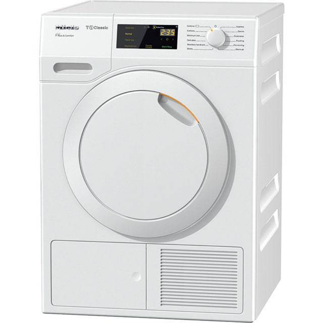 Miele T1 TDD130WP Free Standing Condenser Tumble Dryer in White