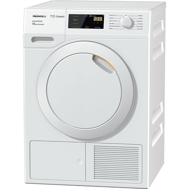Miele T1 Active Family Free Standing Condenser Tumble Dryer in White