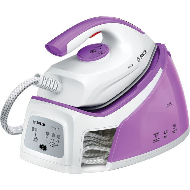 Bosch Serie 2 TDS2110GB Pressurised Steam Generator Iron - White / Purple