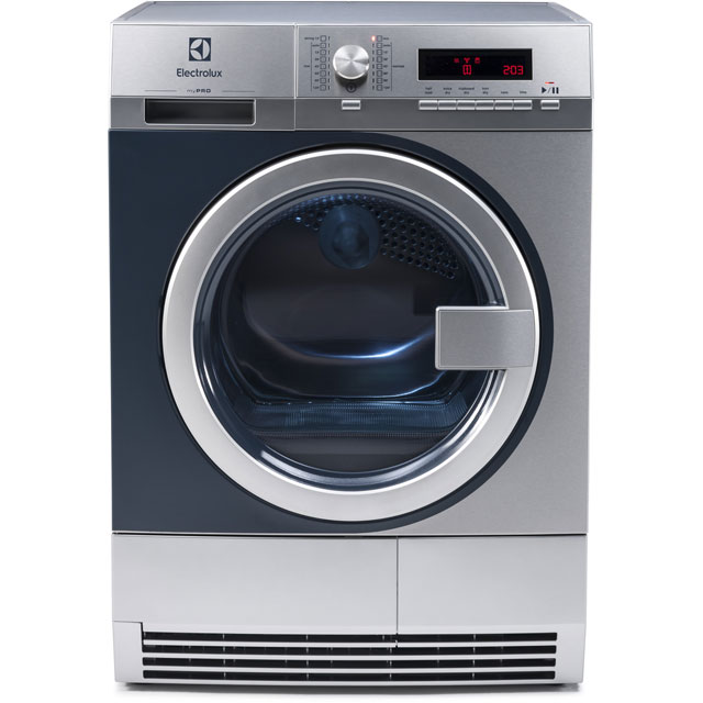 Electrolux myPro TE1120 8Kg Semi Commercial Condenser Tumble Dryer - Stainless Steel - B Rated - TE1120_SS - 1