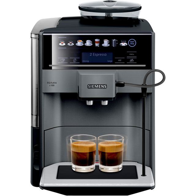 Siemens EQ6 TE651209GB Bean to Cup Coffee Machine - Titanium - TE651209GB_TI - 1