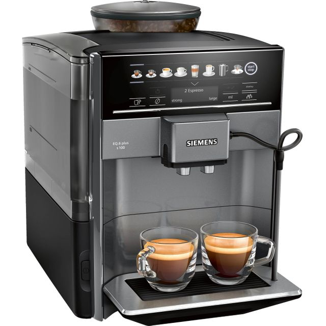 Siemens EQ6 TE651209GB Bean to Cup Coffee Machine - Titanium