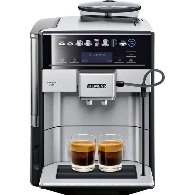 Siemens EQ6 TE657313RW Bean to Cup Coffee Machine - Silver - TE657313RW_SI - 1