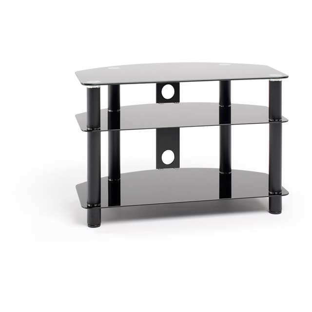 Techlink Dais 80 3 Shelf TV Stand - Black