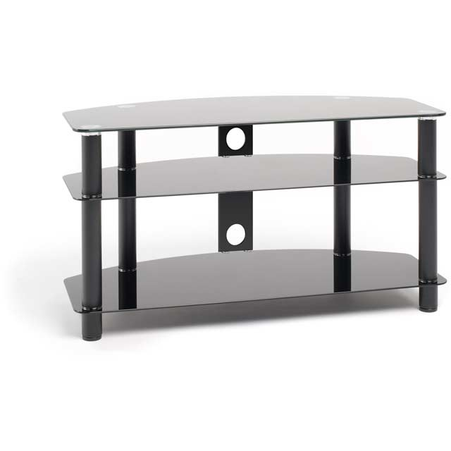 Techlink Dais D100B 3 Shelf TV Stand - Black