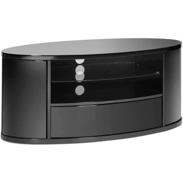 techlink elipse el3 3 shelf tv stand black new from ao. Black Bedroom Furniture Sets. Home Design Ideas