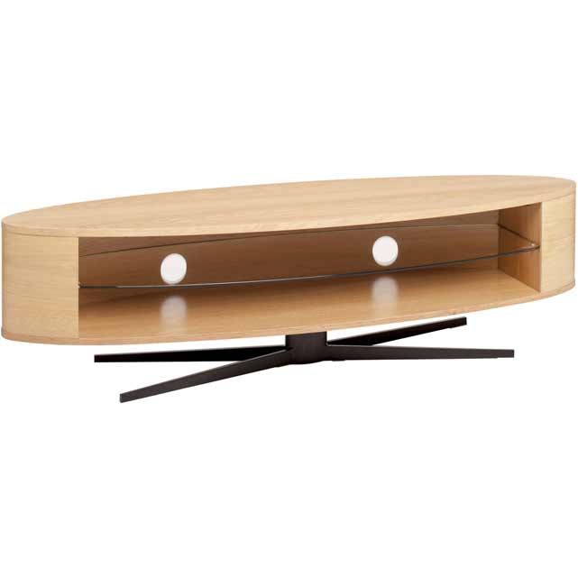 Techlink Ellipse EL140LO 3 Shelf TV Stand - Light Oak