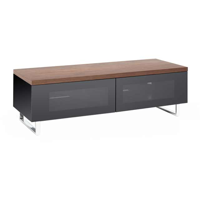Techlink Panorama PM120W 3 Shelf TV Stand - Walnut