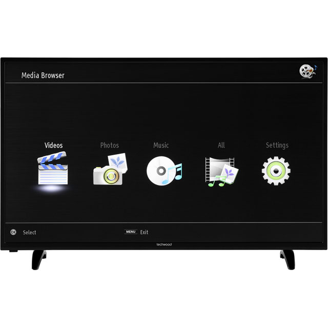 "Techwood 50AO7USB 50"" Smart TV - Black - 50AO7USB - 5"