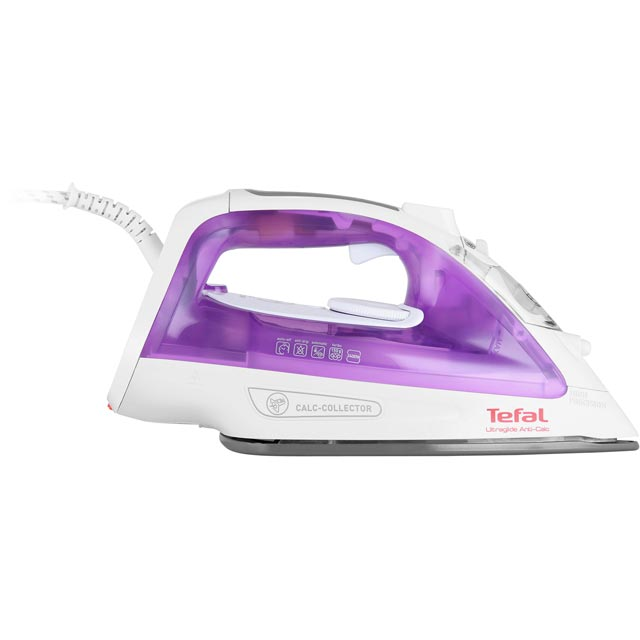 Tefal Ultraglide Anti Scale FV2661 2400 Watt Iron -Purple / White