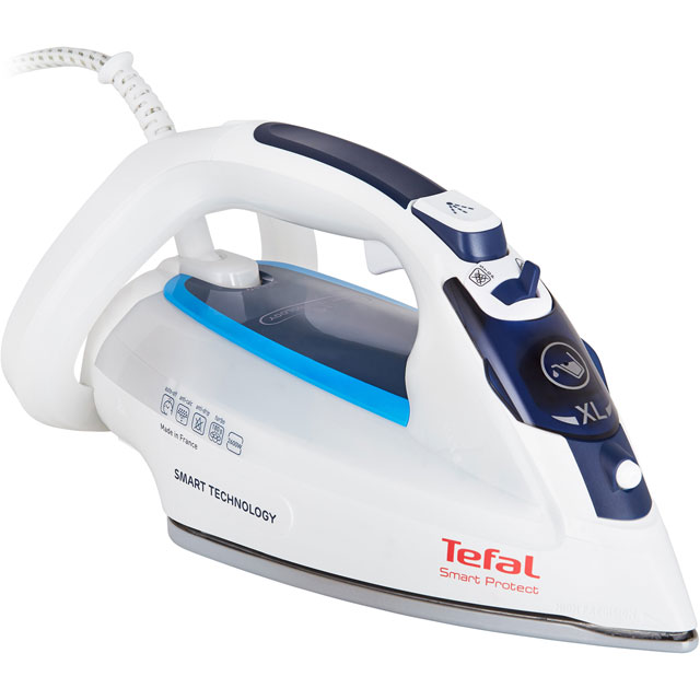 Tefal Smart Protect FV4980 2600 Watt Iron -White / Blue