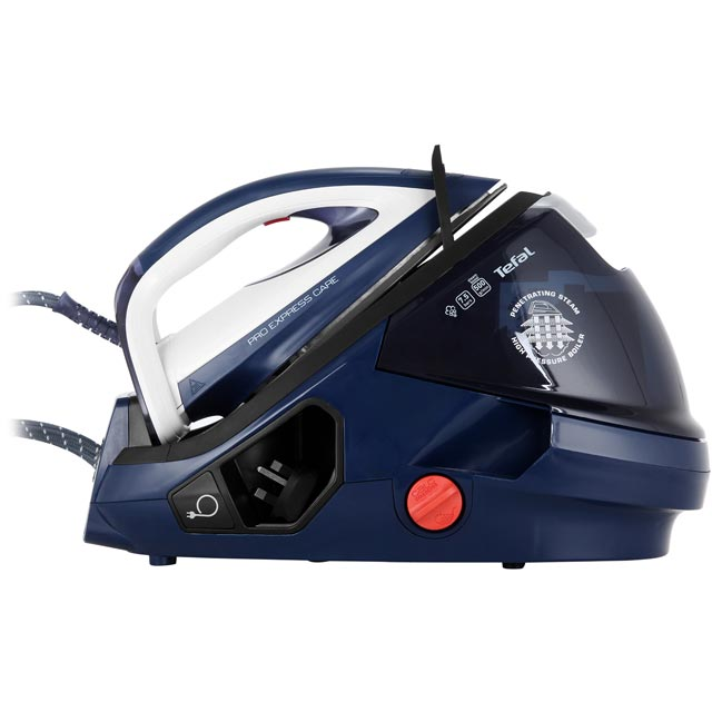 Tefal Pro Express Care Anti Scale GV9071 Pressurised Steam Generator Iron - Blue / White - GV9071_BL - 1