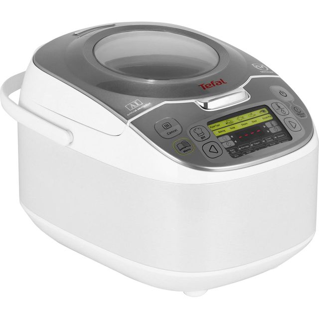 Tefal MultiCook Advanced 45 in 1 RK812142 5 Litre Multi Cooker - White - RK812142_WH - 1